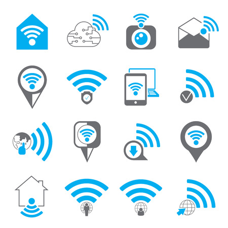 wireless signal: wireless icons Illustration