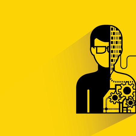 mente humana: hombre robótico