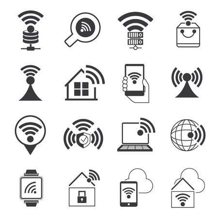 3g: internet wifi icons Illustration