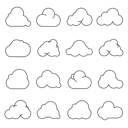 simplus: cloud icons Illustration