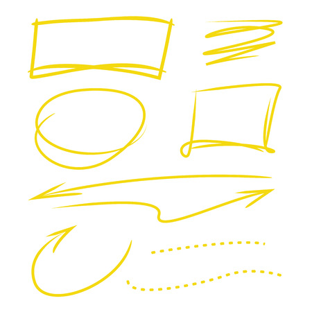 highlighter: highlighter elements, arrows, circle Illustration