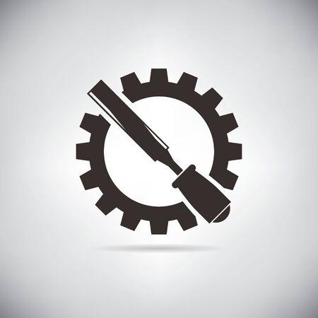 rasp: rasp and cogwheel Illustration