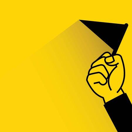 rewarding: hand holding flag