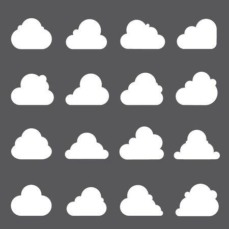 cloud: cloud icons Illustration