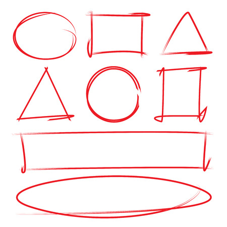 red hand drawn design elements