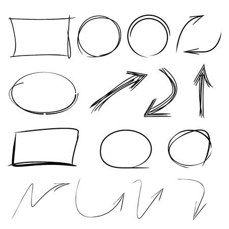 deletion: vector highlighter elements, arrow, circle, rectangle