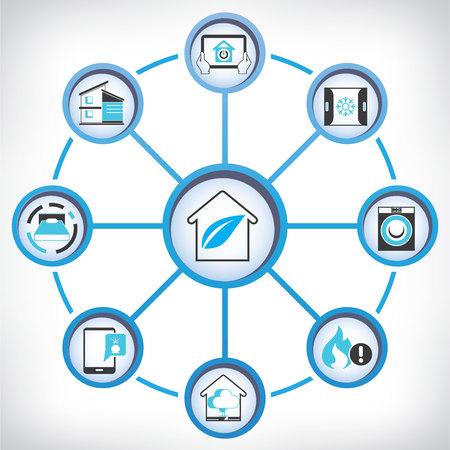eficiencia: casa inteligente Vectores