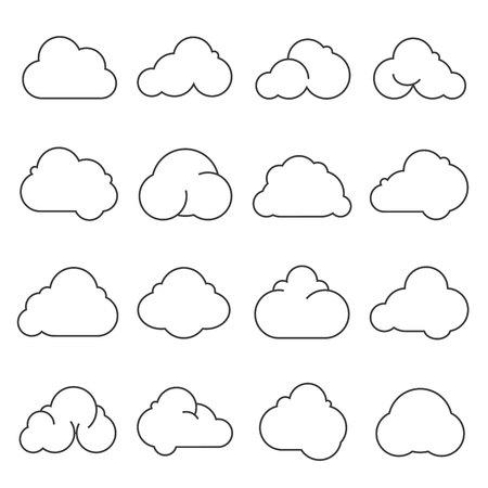 sky cloud: cloud icons Illustration