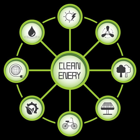 clean energy: clean energy Illustration