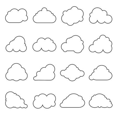 cloud vector: cloud icons Illustration