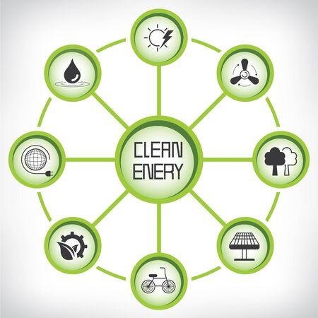 clean energy: clean energy Illustration