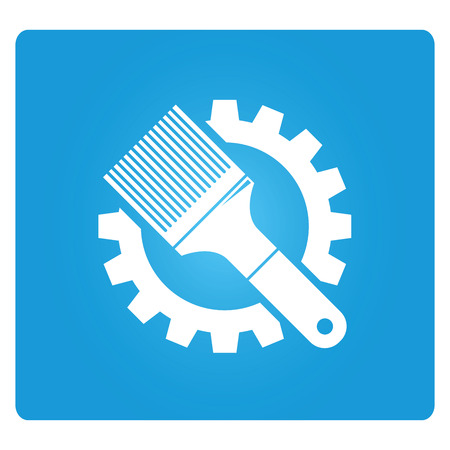 painting brush: painting brush and gear