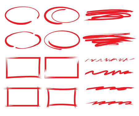 vector highlighter elements Illustration
