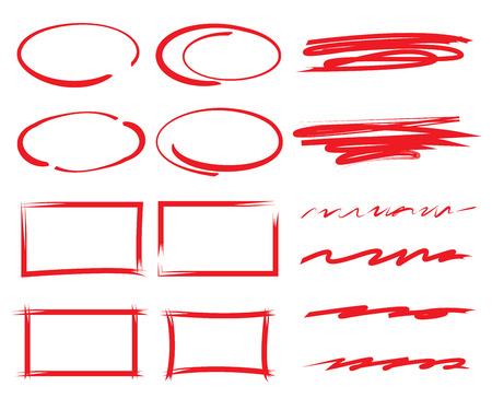 highlighter: vector highlighter elements Illustration