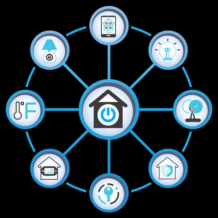 smart: smart home Illustration