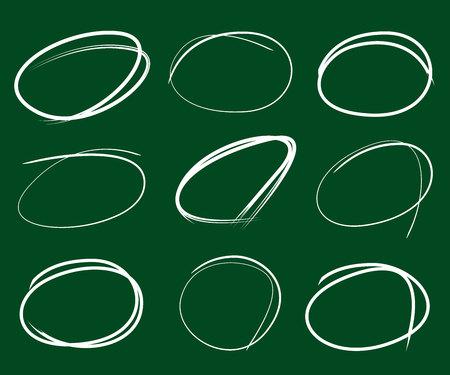 green board: sketch markers in green board