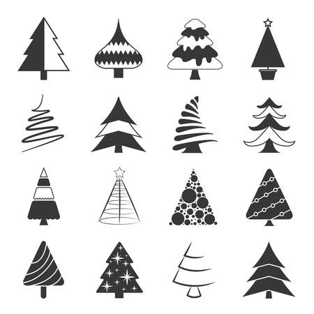 a cedar: Iconos del árbol de Navidad