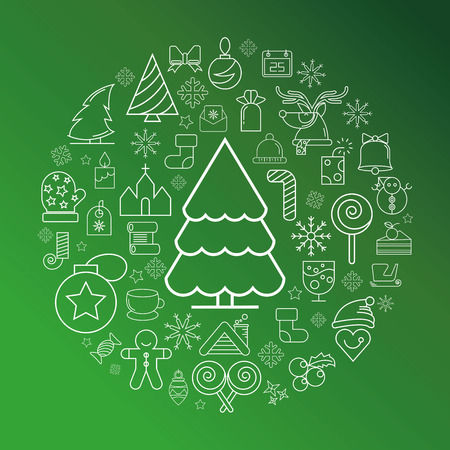 ornaments vector: Merry Christmas