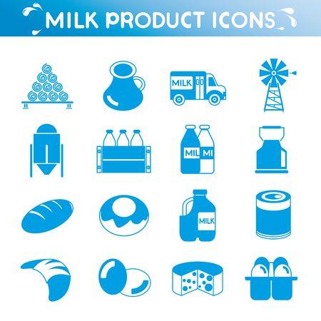sour cream: milk icons