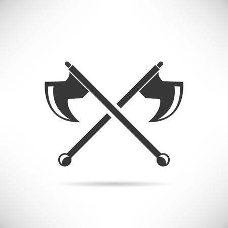 crossed: cross axe Illustration