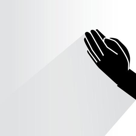 bedelen handen Vector Illustratie