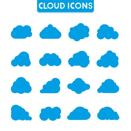 wheather forecast: cloud icons Illustration