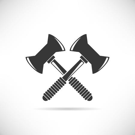 axes: lumberjack axes Illustration