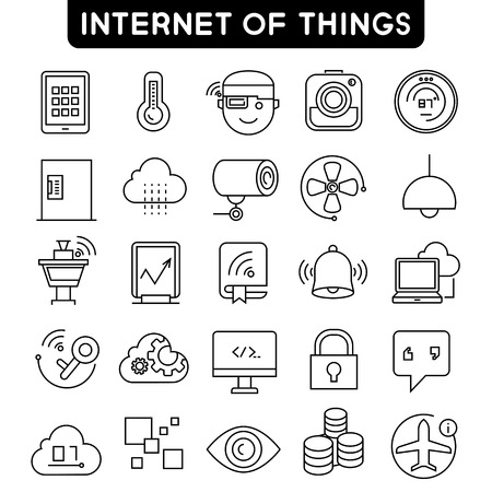 internet of things icons, smart home icons
