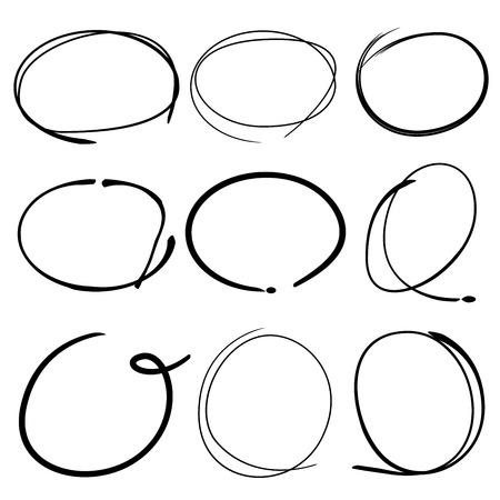 describe: hand draw circles