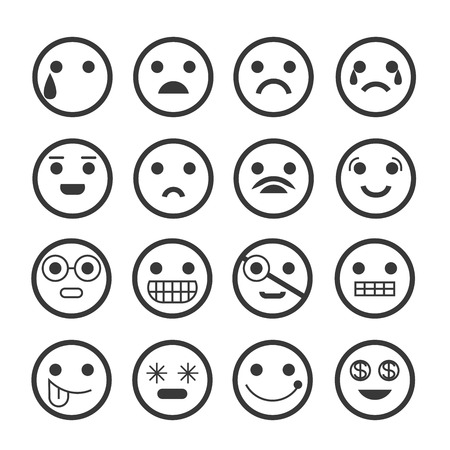 disappointed: emoticons Illustration