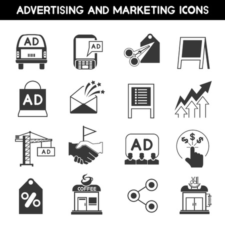 icons set: advertising icons