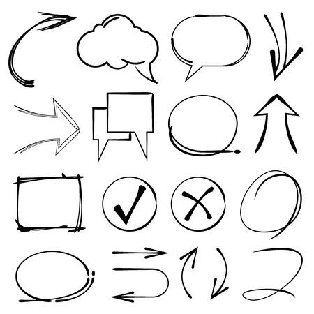 tekstballonnen Vector Illustratie