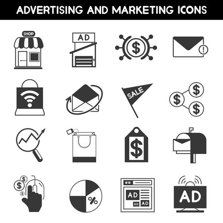 mouth screen: advertising icons