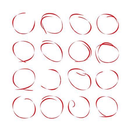 emphasis: hand draw circles set