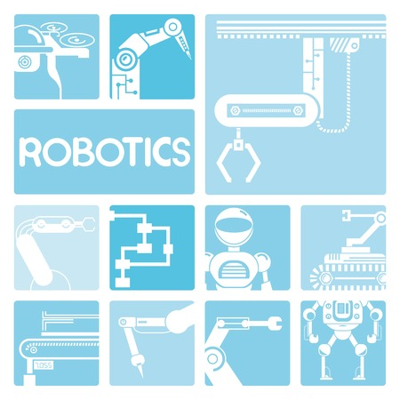 compute: robot icons