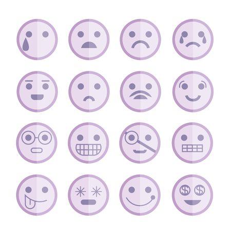 flirt: emoticons Illustration