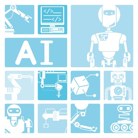 industry icons: artificial intelligence