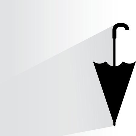 is closed: umbrella Illustration