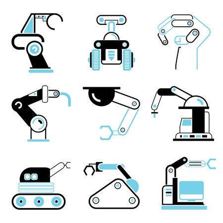 talking robot: robot icons