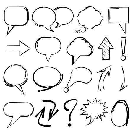 bocetos de personas: burbujas de discurso