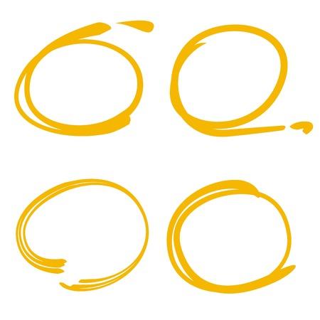 marker: círculo marcador, marcador del marco, marcador dibujado a mano Vectores