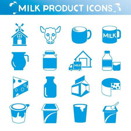 yogurt: milk icons