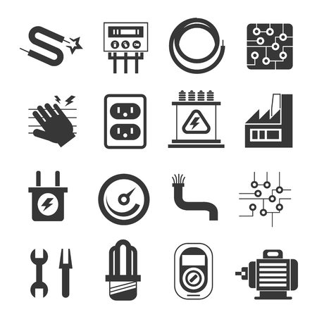 electricity icons, industry icons