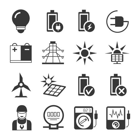 voltmeter: energy icons