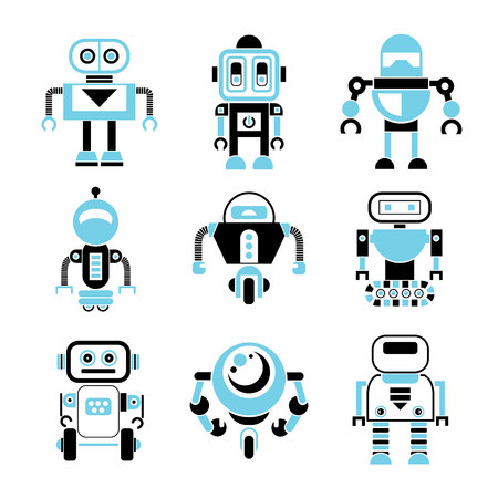 toys clipart: robot icons