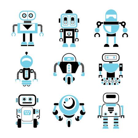 robot vector: robot icons