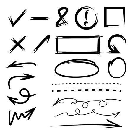 deletion: highlighter, circle, rectangle, arrow, underline