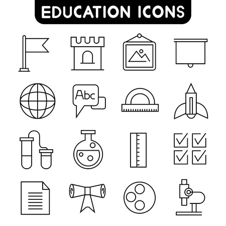 check symbol: education icons Illustration