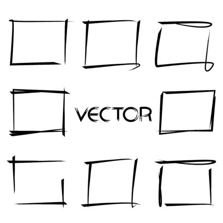 rectangle: hand drawn rectangle frames Illustration