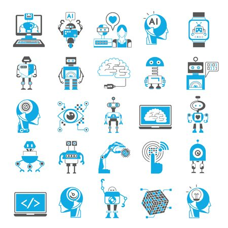 programing: artificial intelligence icons